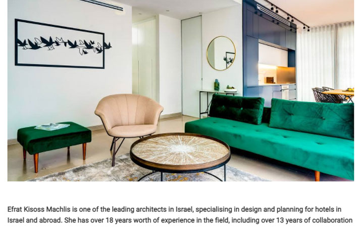 Efrat Kisoss Machlis is one of the leading architects in Israel